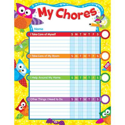 Owl Stars Chore Charts By Trend Enterprises