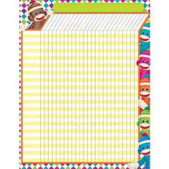 Sock Monkeys Incentive Chart By Trend Enterprises