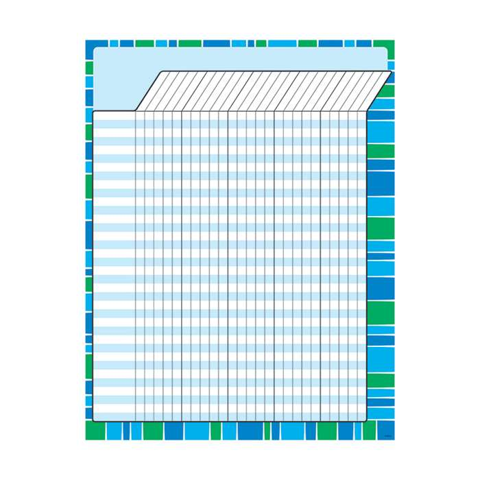 Stripe-Tacular Cool Blue Incentive Chart, T-73393