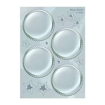 Award Seal Silver Burst 32/Pack By Trend Enterprises