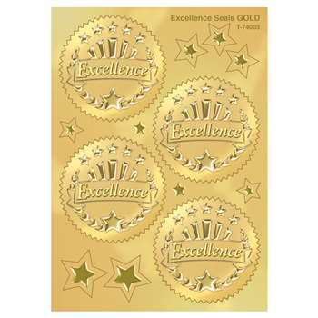 Excellence Award Seal Gold Stickers 2 Inch 32/Pack By Trend Enterprises