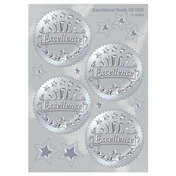 Award Seal Excellence (Silver) 32/Pack By Trend Enterprises