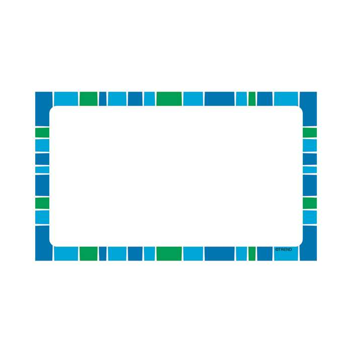 Stripe-Tacular Terrific Index Cards Cool Blue Blan, T-75003
