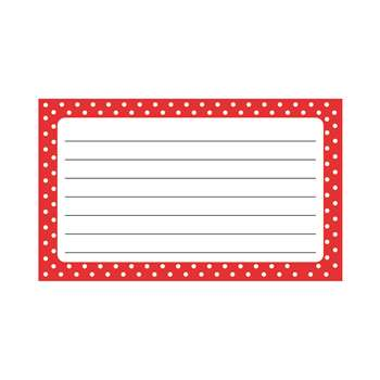 Polka Dots Terrific Index Cards Lined, T-75302