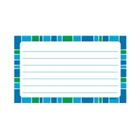 Stripe-Tacular Terrific Index Cards Cool Blue Line, T-75303