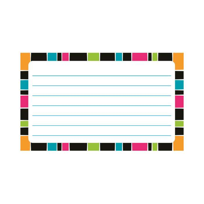 Stripe-Tacular Terrific Index Cards Groovy Lined, T-75304