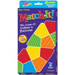 Match-It: 3 Corner Matching Game By Trend Enterprises