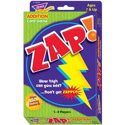 Zap Addition Card Game By Trend Enterprises