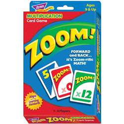 Zoom Multiplication Card Game By Trend Enterprises