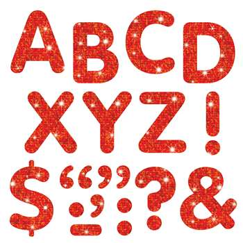 Stick-Eze 2 Letters Marks Red Sparkle 68 Uppercase 39 Marks By Trend Enterprises