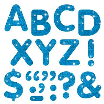 "Stick-Eze 2"" Letters Marks Blue 68 Uppercase 39 Marks By Trend Enterprises"