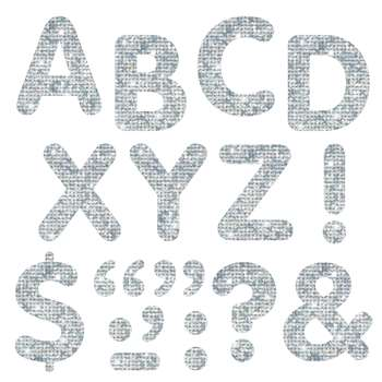 Stick-Eze Stick-On Letters Silver Sparkle 2 Inch By Trend Enterprises