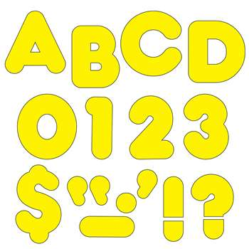 Ready Letters 3 Inch Casual Yellow By Trend Enterprises
