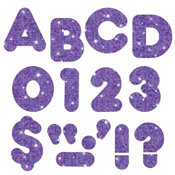 Ready Letters 3 Inch Casual Purple Sparkle By Trend Enterprises