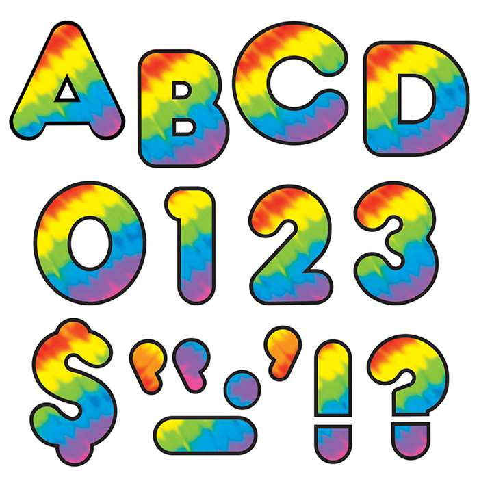 Tie Dye 2 Ready Letters By Trend Enterprises