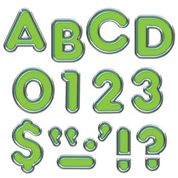 Green 4In Colorful Chrome Ready Letters By Trend Enterprises