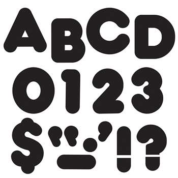Ready Letters 5 Inch Casual Black By Trend Enterprises