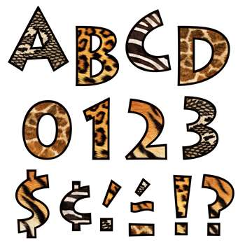 Animal Prints 4 Inch Venture Ready Letters By Trend Enterprises