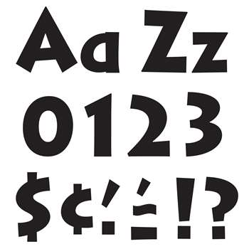 Ready Letters Black 4 Venture Uppercase & Lowercase Combo By Trend Enterprises
