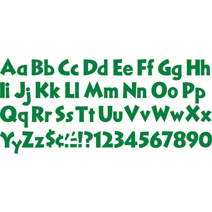 Ready Letters Kelly Green 4 Inch By Trend Enterprises