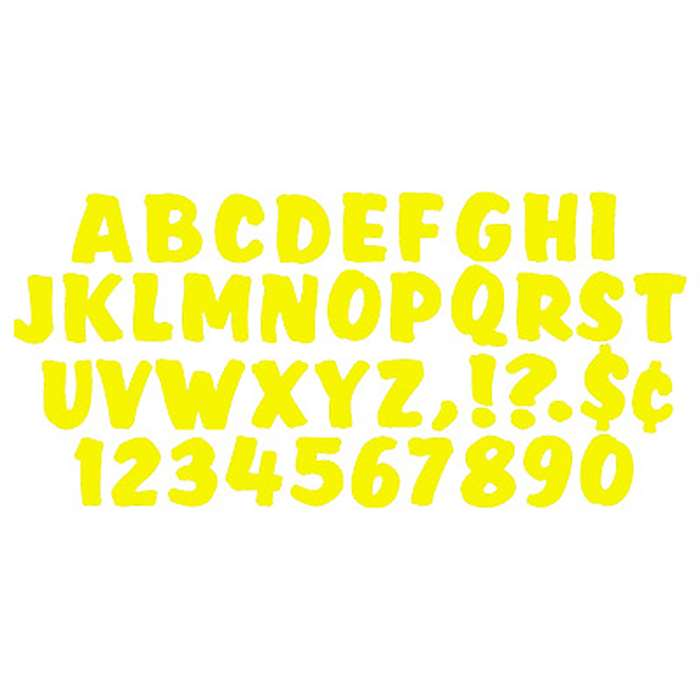 Ready Letters 4 Inch Splash Yellow By Trend Enterprises