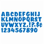Ready Letters 4 Splash Blue Uppercase By Trend Enterprises