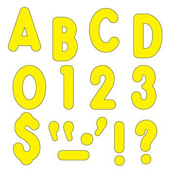 Yellow Ready Letters 7In Uppercase Billboard Font By Trend Enterprises