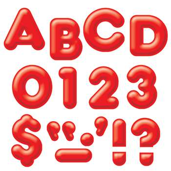 Ready Letters 4Inch 3-D Red By Trend Enterprises