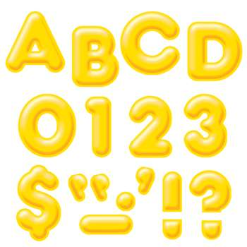 Ready Letters 4Inch 3-D Yellow By Trend Enterprises
