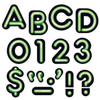 Bright Green Ready Letters 4In Uppercase Neon Font By Trend Enterprises