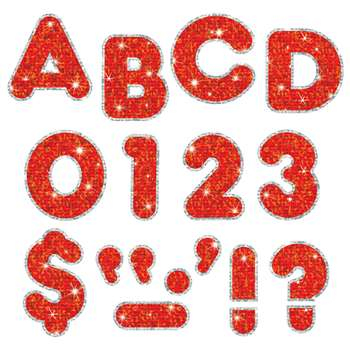 Red Sparkle Plus 4 Ready Letters By Trend Enterprises