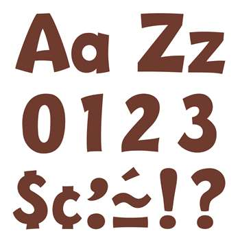 Chocolate 4In Playful Combo Ready Letters By Trend Enterprises