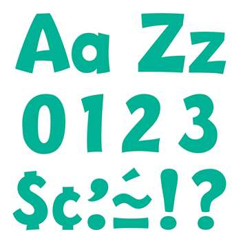 "Teal 4 "" Playful Combo Pack Ready Letters, T-79768"