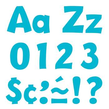 "Sky Blue 4 "" Playful Combo Pack Ready Letters, T-79769"