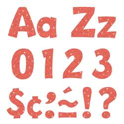 "4"" Ready Letters Coral Sparkle, T-79781"