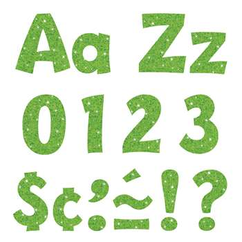 "4"" Ready Letters Lime Sparkle, T-79782"