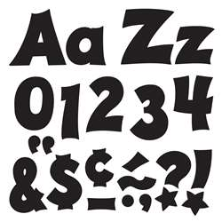 Black 4In Combo Pack Uppercase Lowercase By Trend Enterprises