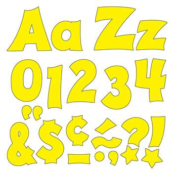 Yellow 4In Combo Pack Uppercase Lowercase By Trend Enterprises