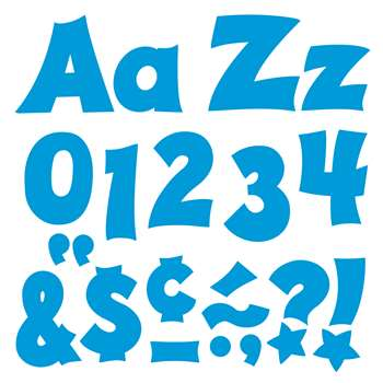 Blue 4In Combo Pack Uppercase Lowercase By Trend Enterprises