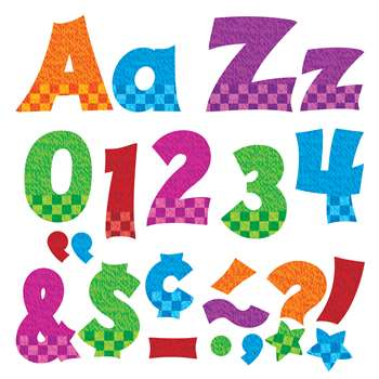 Snazzy 4In Combo Pack Uppercase Lowercase By Trend Enterprises