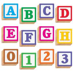 Wooden Blocks 4In 3D Blocks Ready Letters By Trend Enterprises