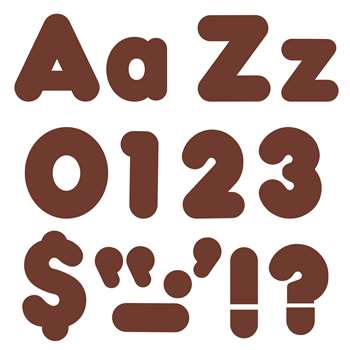 Chocolate 4In Casual Combo Ready Letters By Trend Enterprises