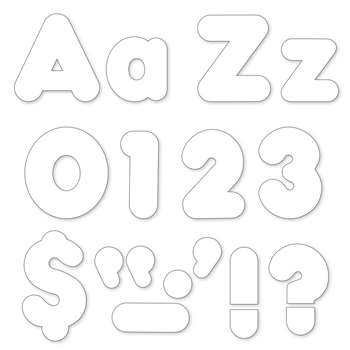 White 4In Combo Pack Uppercase Lowercase By Trend Enterprises