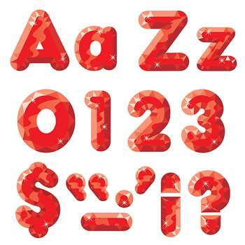 Red Gems Ready Letters 4In Upper Lowercase Combo By Trend Enterprises