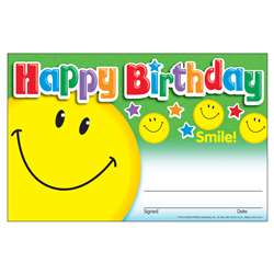 Awards Happy Birthday Smile By Trend Enterprises