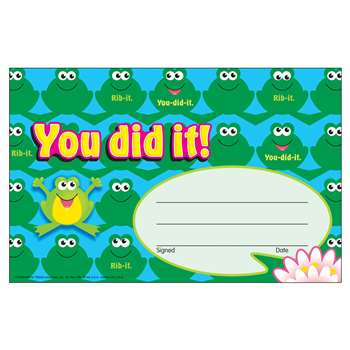 Awards You Did It Frogs By Trend Enterprises