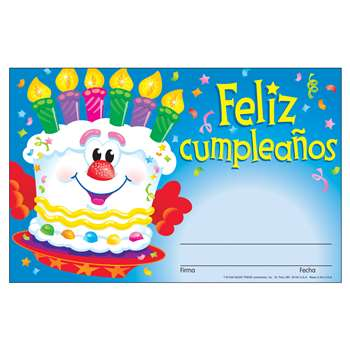 Awards Feliz Cumpleanos Pastel Spanish Happy Birthday Cake By Trend Enterprises