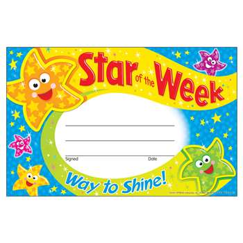 Star Of The Week Way To Shine Recognition Awards By Trend Enterprises
