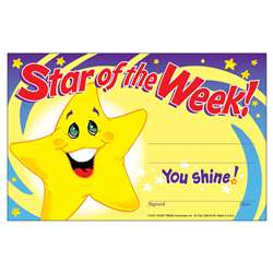 Awards Star Of The Week 30/Pk 5X8 By Trend Enterprises
