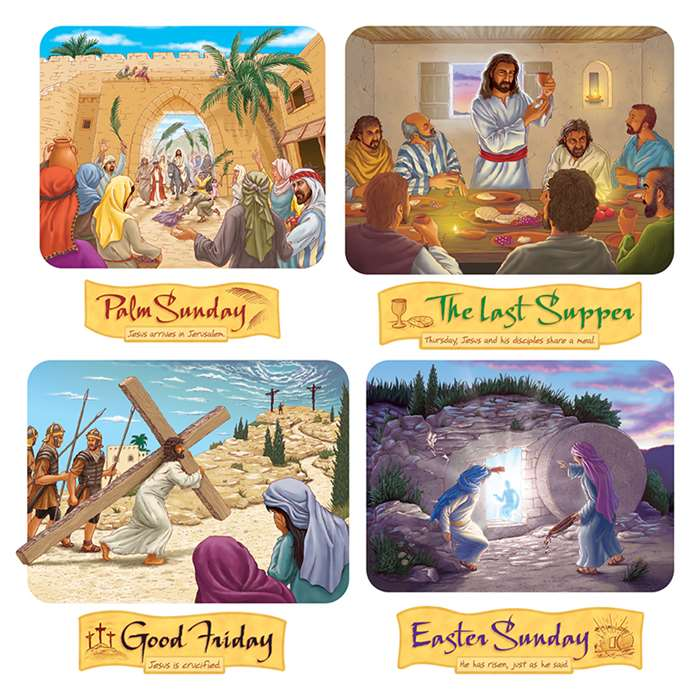 Holy Week Bulletin Board Set By Trend Enterprises